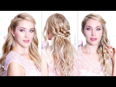 Easy holiday hairstyles for medium/long hair ❤ Hair tutorial for prom/party/wedding