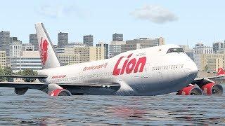 Boeing 747 Emergency Landing On Water (HD) | X-Plane 11