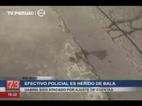 Delincuente hiere en la cabeza a policía en el Callao