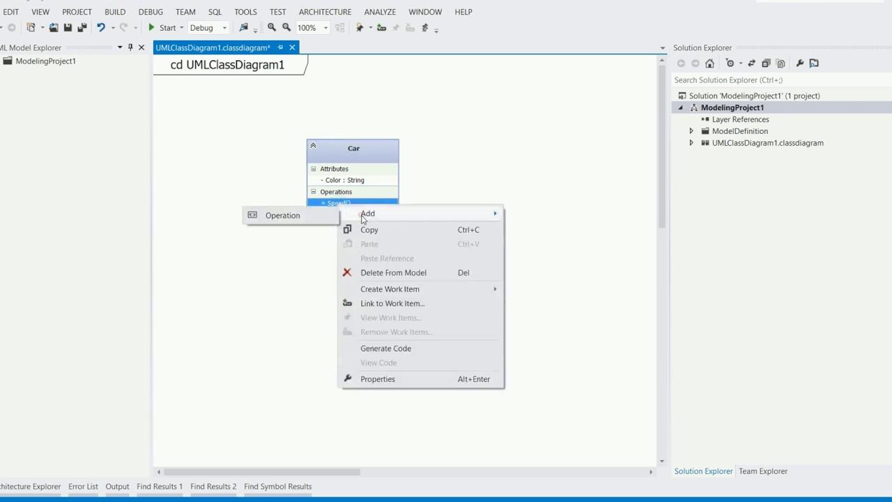 Visual Studio View Class Diagram Ipf 900 Wiring How To Design Uml And Generate C Sharp Code Using