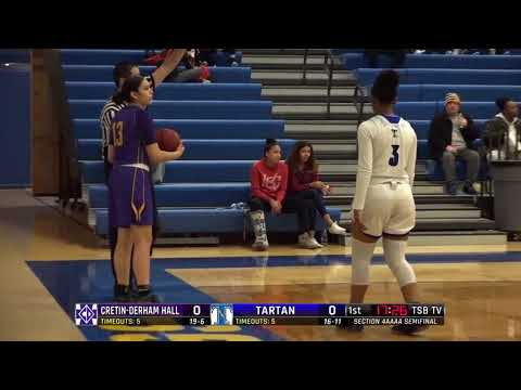 High School Girls Basketball: Cretin-Derham Hall vs. Tartan, Section 4AAAA semifinal