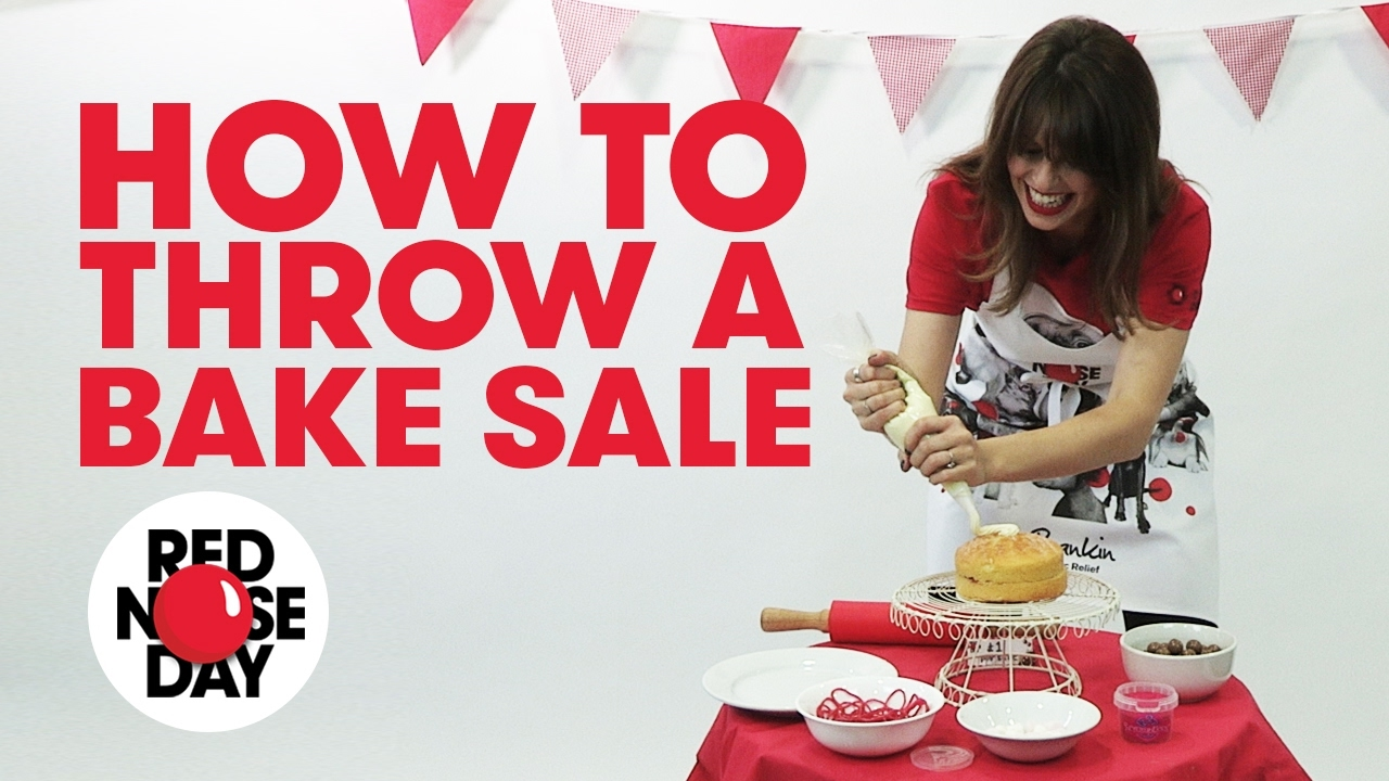 comic relief fundraising tips how to throw a bake sale youtube