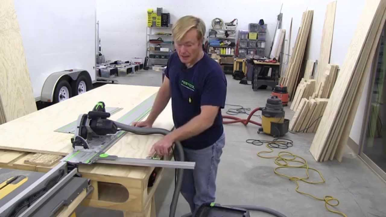 BUILDING A MOBILE WOODSHOP (Part 16) The Festool Track Saw - YouTube
