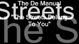 "Alex Harvey + DAMAGE MANUAL (Walker Atkins Wobble)  ""The Streets Belong To You"""