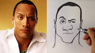 How to Caricature the Rock - Easy Pictures to Draw