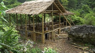 How To Build The Most Beautiful Bamboo House - Beautiful Girl And Bamboo House -  New Life [Ep4]