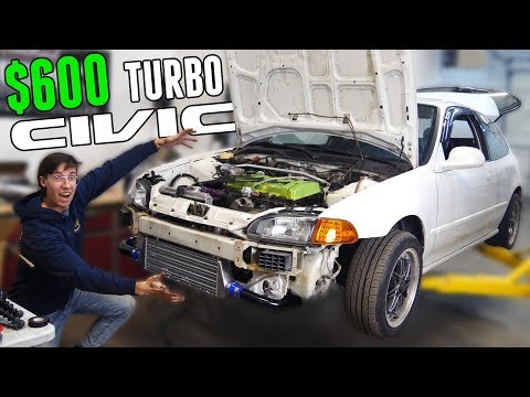 Installing a $600 TURBO KIT on a B18 Swapped Civic! - Is it Any Good?