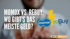 REBUY vs. MOMOX: Wo gibt's das meiste Geld für Bücher, CDs, DVDs und Spiele?