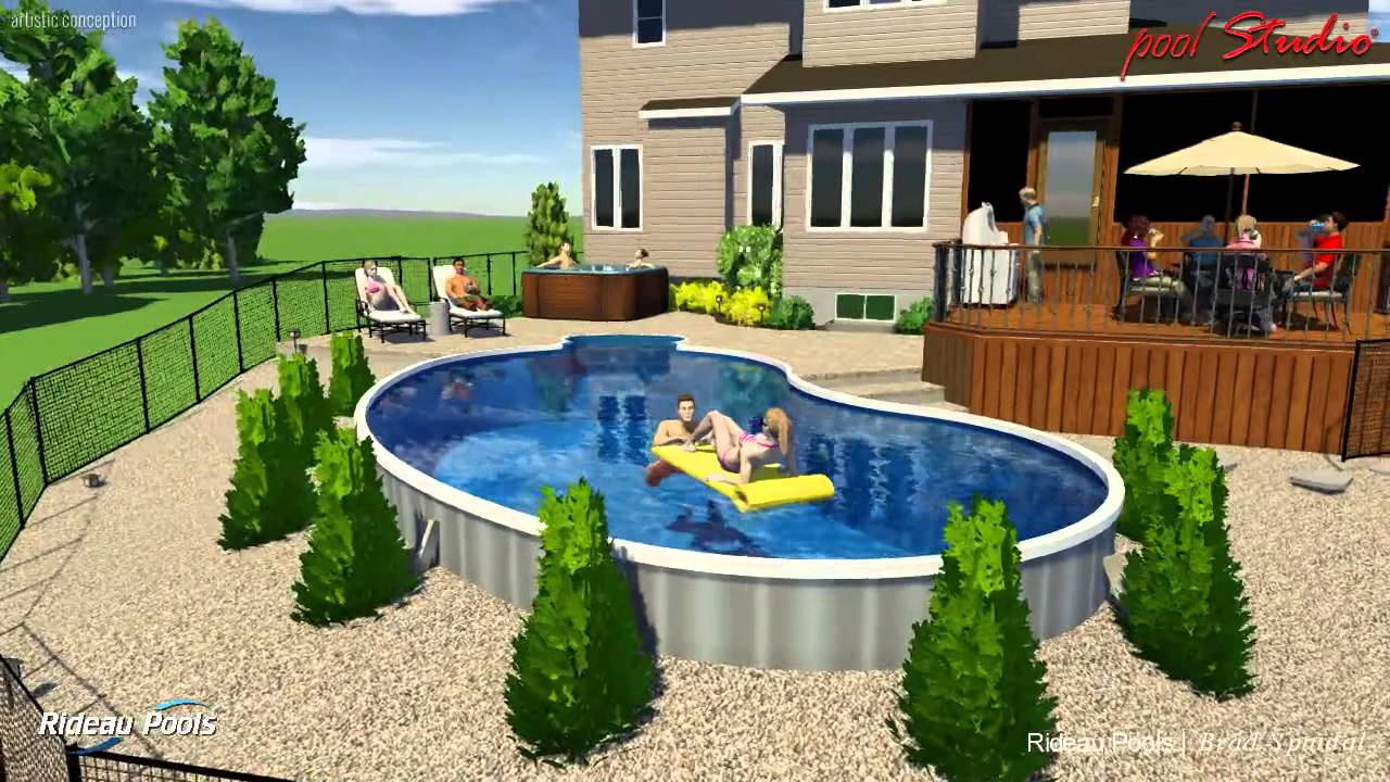 Pictures of semi inground pools joy studio design gallery best design for Best semi inground swimming pools