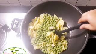 Aloo  Matar Karahi ||fried potato pea||by family recipes