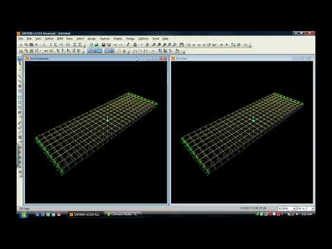 Bridge deck analysis through the use of grillage models SAP 2000