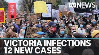 Second Black Lives Matter protester contracts coronavirus as Victorian cases climb by 12