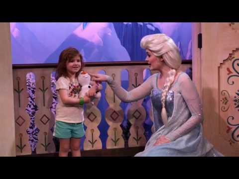 Meeting Elsa at Epcot
