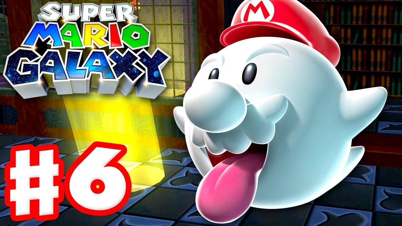 Super Mario Galaxy - Gameplay Walkthrough Part 6 - Ghostly Galaxy! (Super Mario 3D All Stars)