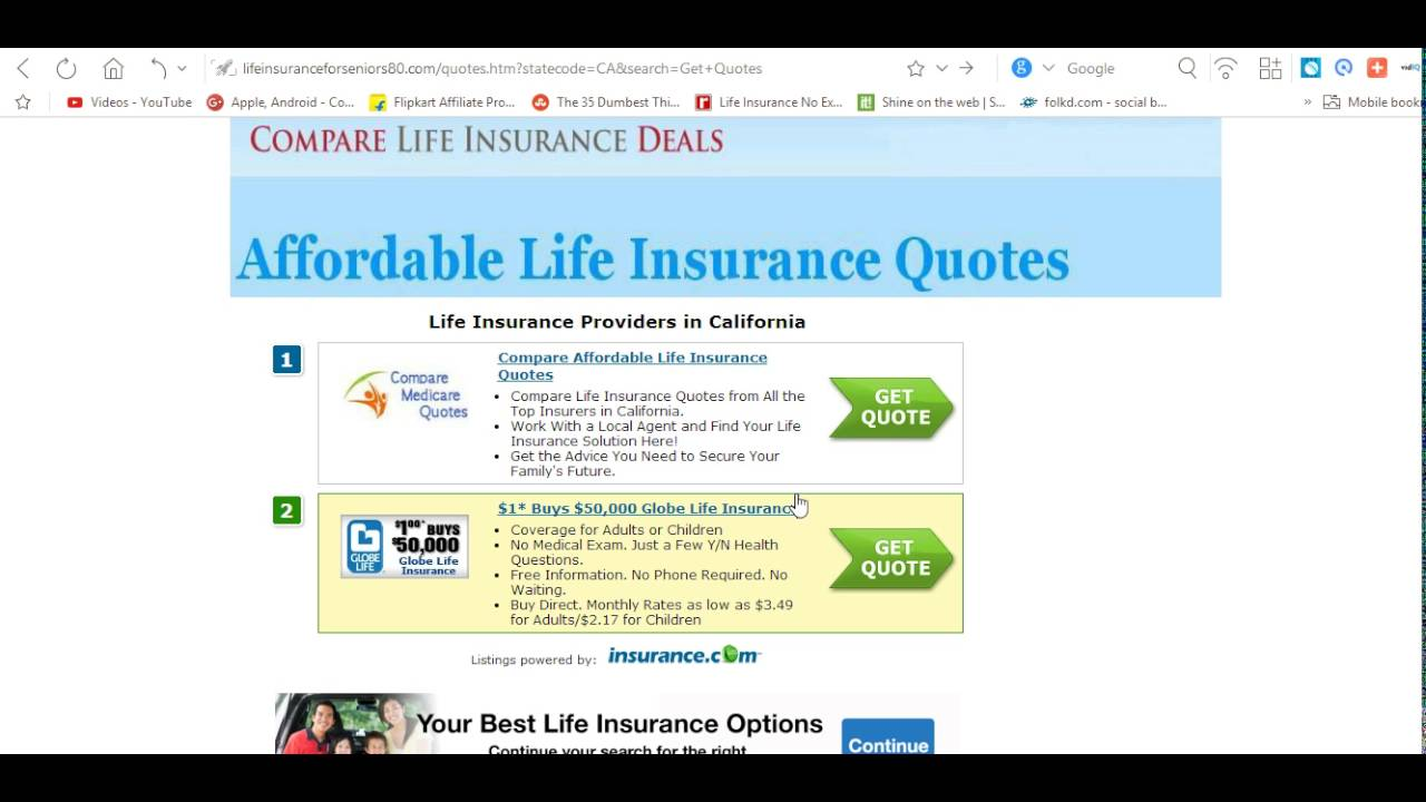 Affordable Life Insurance Quotes Buying Life Insurance At 75 Year Old  Youtube