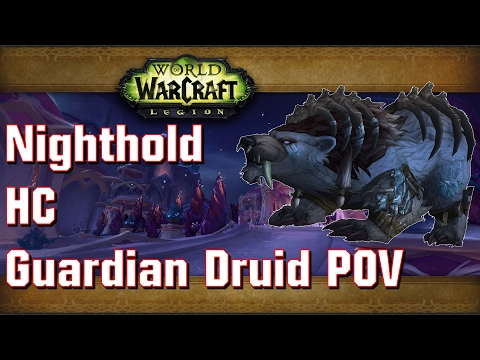 [GER]Nighthold HC Guardian Druid Tank Wipe till we get it right