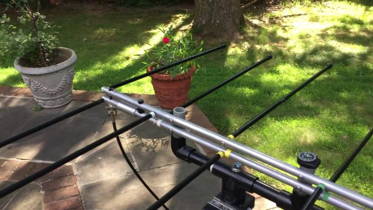 Elk Satellite Antenna working with both a tripod and a monopod… All for  under six dollars