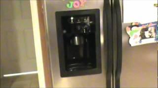 How to fix  GE Refrigerator Frozen dispenser or water line No water GE repair Waterline water tap