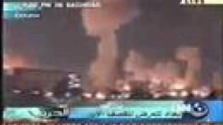 Iraq war 2003, Bombing Bagdad, Bombardeo a Bagdad el 2003
