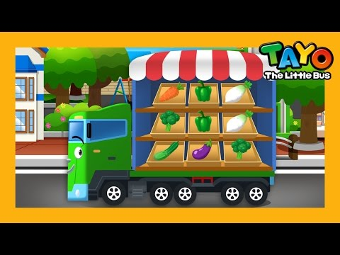 Green l Color Game #4 l Learn Street Vehicles l Tayo the Little Bus