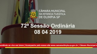 72ª Sessão Ordinária 2019 08-04-2019
