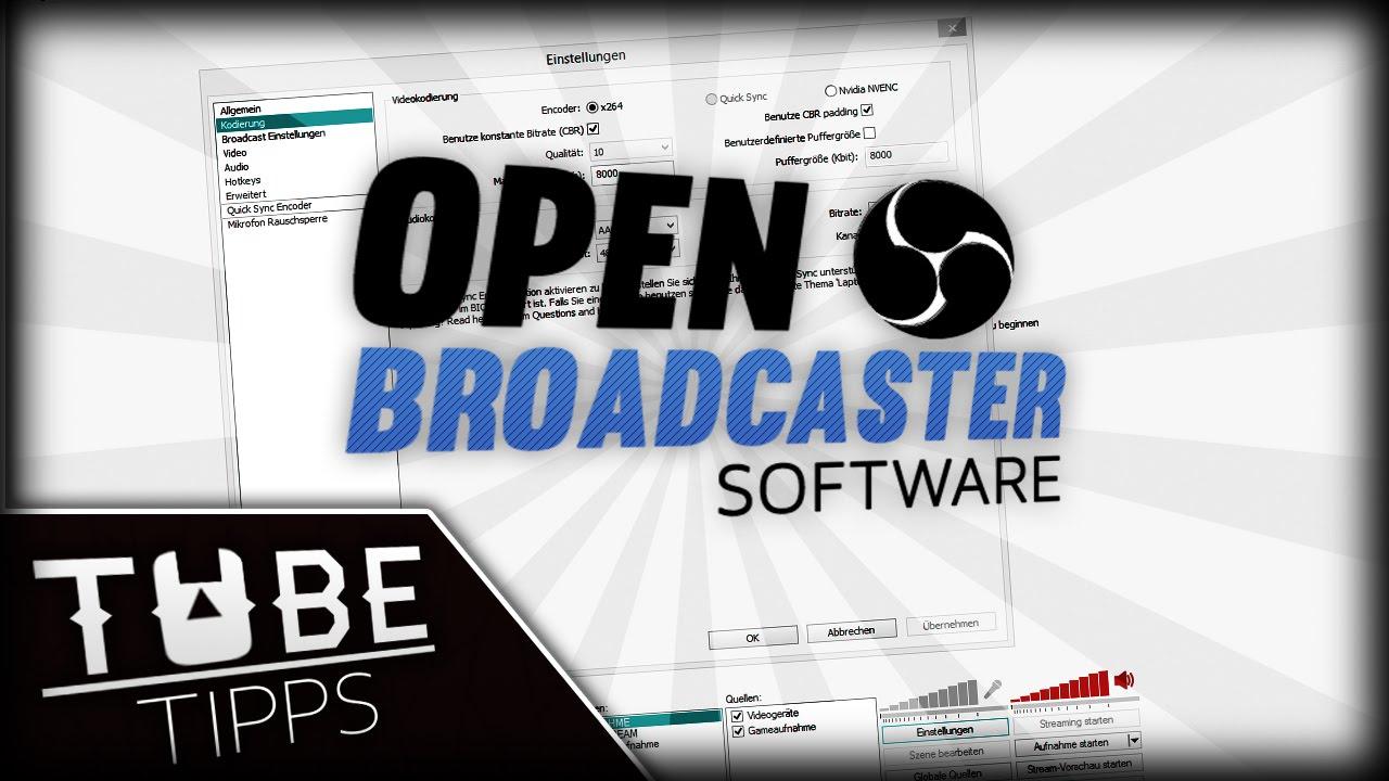Mit Open Broadcaster Aufnehmen