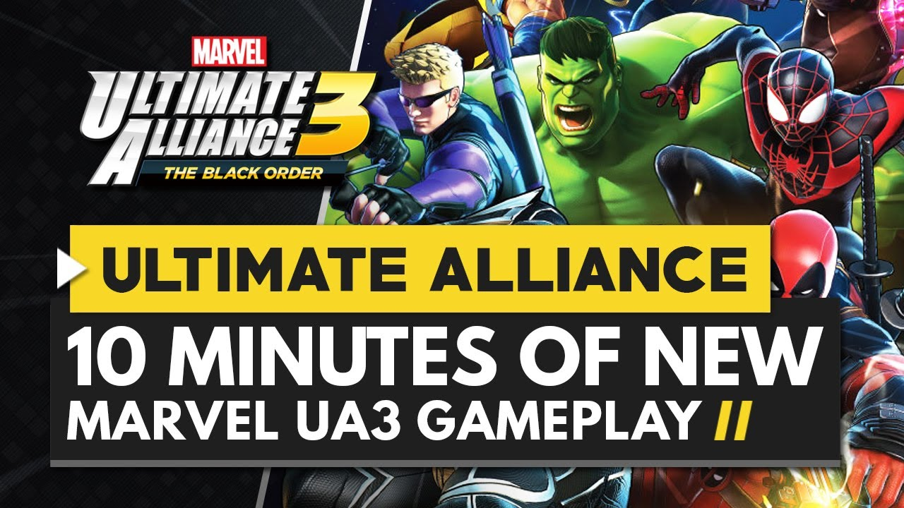 Marvel Ultimate Alliance 3 The Black Order PS4 Version Full Game