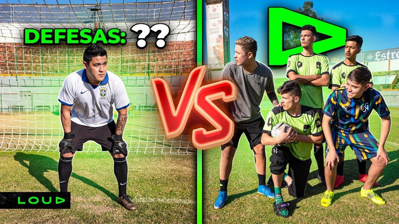 TIME DA LOUD vs GOLEIRO PROFISSIONAL NUM ESTÁDIO!!