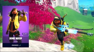 Fortnite bone wasp skin gameplay (amazing back bling!)