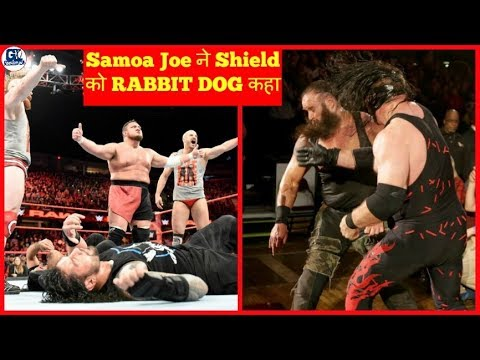 Shield Rabbit Dog Said by Samoa Joe   WWE Raw 11/12/2017 Matches Highlights