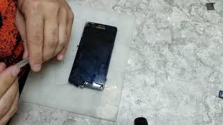 Samsung A5 (A500F) // САМЫЙ ТОНКИЙ ДИСПЛЕЙ. Разборка через морду и замена стекла.