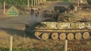 Сирия: Бои у фронта г. Тафас. 02.07.2018 (рус. суб.)