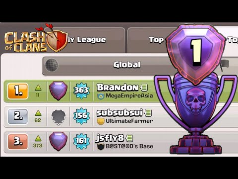 Clash of Clans - Push to World No.1, #7 - I am No.1 in Singapore!