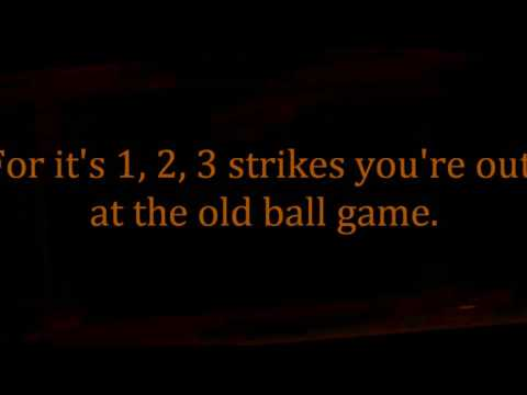 TAKE ME OUT TO THE BALL GAME song words lyrics best top popular Baseball park songs trending