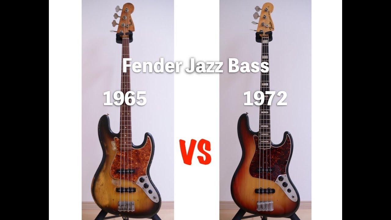 1965 JazzBass vs1972 JazzBass Vintage JazzBass