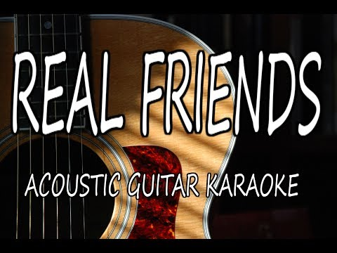Camila Cabello - Real Friends (Acoustic Guitar Karaoke)