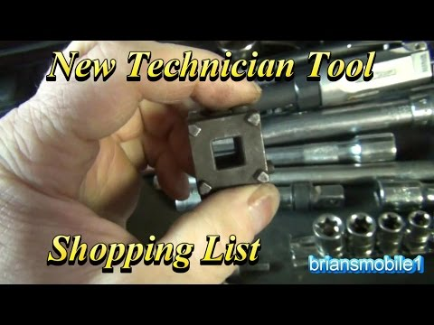 Tool Shopping Checklist For New Technicians