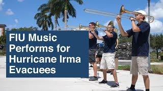 FIU Music Performs for Hurricane Irma Evacuees