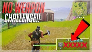 NO WEAPON CHALLENGE! CAN WE GET TOP 10?!| FORTNITE CHALLENGE