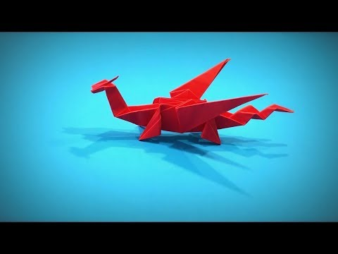 How to Make a Paper Dragon DIY - Easy Origami Step by Step ver. 1