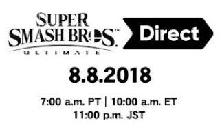 Super Smash Bros Ultimate Direct Nov 1st 2018 - Live Stream Test
