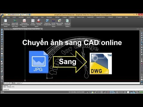 Bài 15: Chuyển file ảnh sang file CAD online - Convert image to dwg online