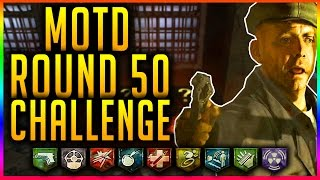 """""""MOB OF THE DEAD"""" ROUND 50 CHALLENGE!!! ~ (Black Ops 2 Zombie Gameplay)"""