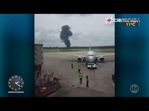 Sobrevivente da queda do avião em Cuba morre no hospital | SBT Notícias (22/05/18)