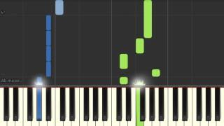 Piano tutorial: Pet Shop Boys - Being Boring (Synthesia)