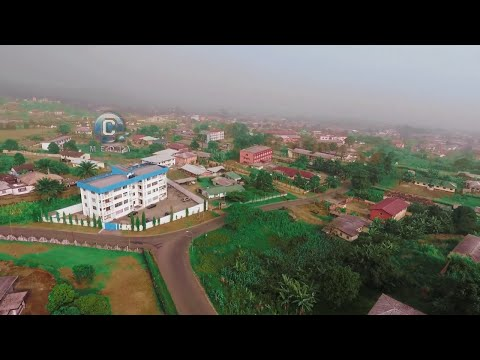 Free Drone Shot of Federal Quarter Buea | Areal view of Buea S.W.R. of Cameroon.