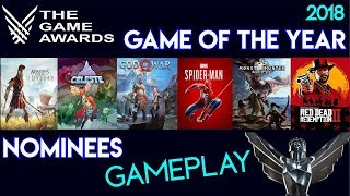 The Game Awards 2018 | Game of the Year (Nominees) Gameplay & Rating