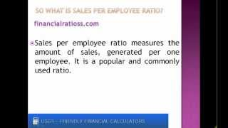 What is sales per employee?