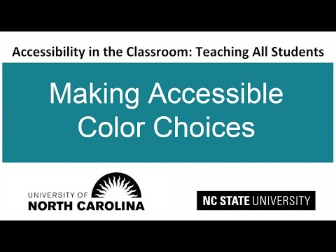 Making Accessible Color Choices