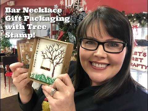 Bar Necklace as a Swing in a Gift Box Tutorial